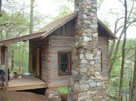 Cabins At Chimney Mountain by Log Cabin Fireplace The Completed Cabin With