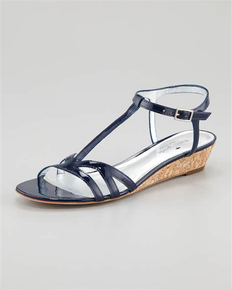 navy sandal kate spade new york violet cork wedge sandal navy in blue