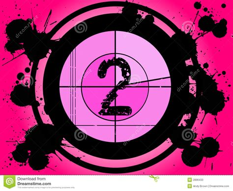 A Shoey Countdown Number 2 by Pink Countdown At 2 Stock Vector Image Of