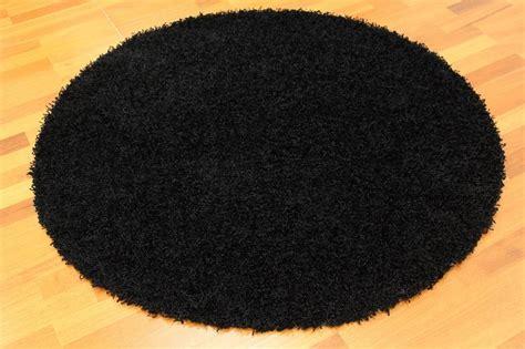 schwarzer runder teppich runde teppiche fancy schwarz trendcarpet de