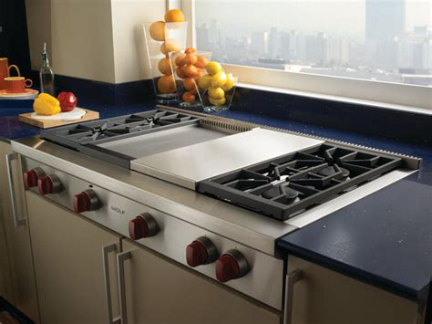 Wolf Drop In Cooktop - wolf 48 quot pro style gas rangetop stainless steel