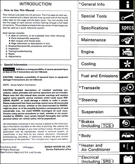 online car repair manuals free 1993 acura nsx on board diagnostic system 1993 acura nsx repair shop manual original