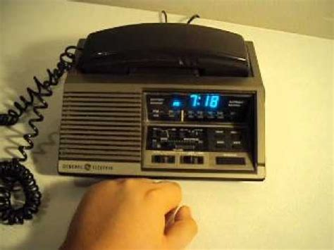 ge general electric clock radio telephone youtube
