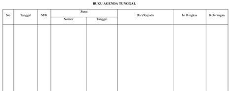 format buku agenda penanganan surat sistem buku agenda dian s blog