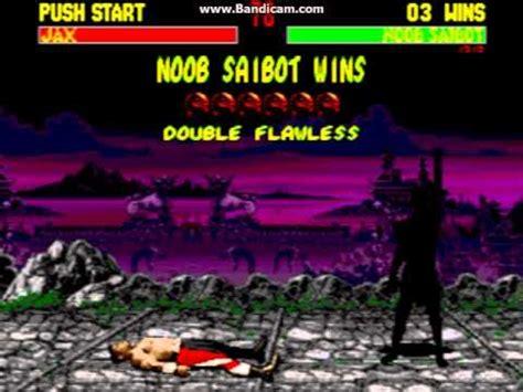 mortal kombat 2 sega genesis mortal kombat 2 sega genesis noob saibot gameplay
