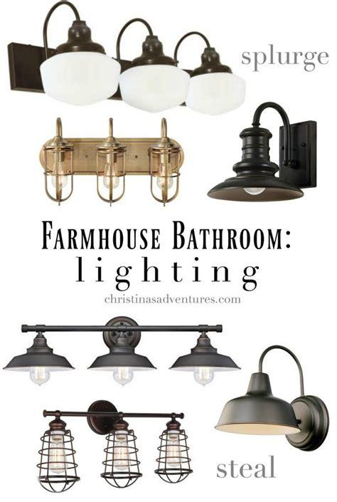 farmhouse bathroom light fixtures 25 best ideas about farmhouse bathrooms on pinterest