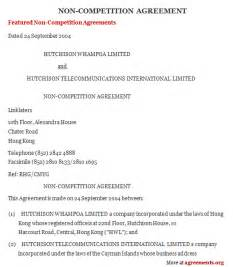 non compete agreement sample form free printable documents