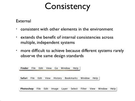 design consistency definition design principles