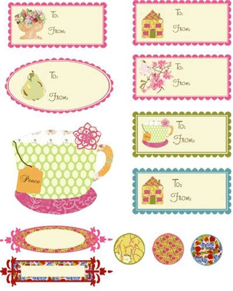 printable da label 80 tea cup garden inspired shabby chic inspired tags