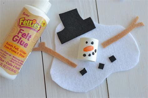 snowman craft melted snowman craft project for darice