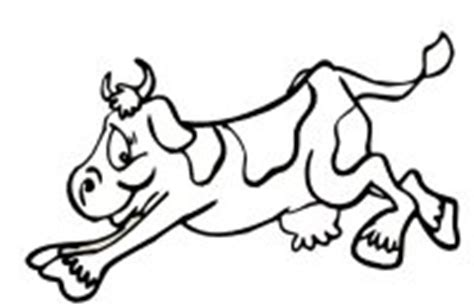 cow jumping coloring page how to draw jumping cow