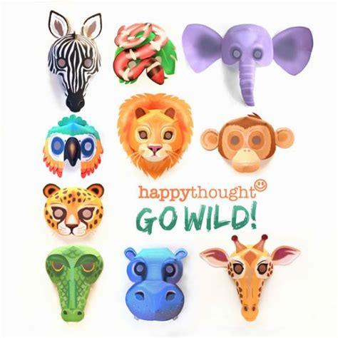 printable endangered animal masks free printable pdf templates paper craft pdf patterns
