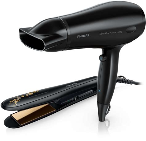 Philips Hair Dryer And Straightener Gift Set dryer straightener hp8646 00 philips