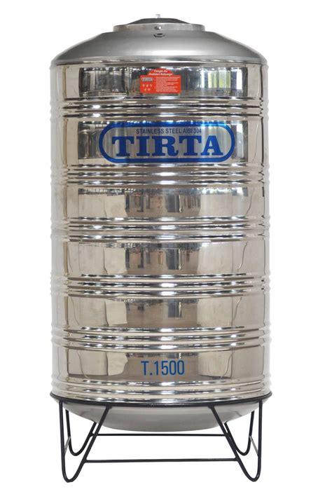 Tangki Air Stainless Steel Tirta T 1000 Water Tank Tandon Toren Air jual tangki air stainless tirta t 1500 kaki toren tandon water tank karuniajy