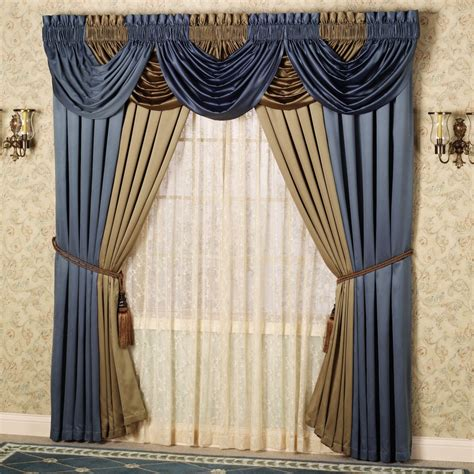 how to do swag curtains adorable curtain valance design alternative offering blue