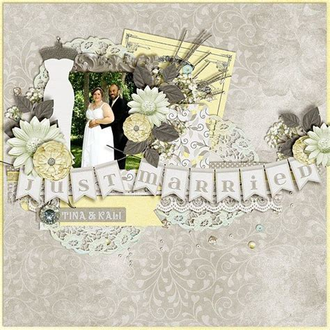 scrapbook templates wedding 17 best images about wedding bells digital scrapbook kit