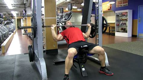 incline smith bench press smith machine wide grip incline press youtube