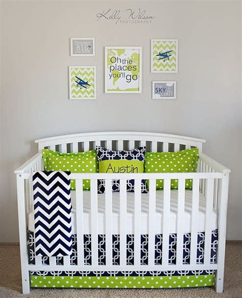blue and green crib bedding 17 best ideas about lime green bedding on pinterest