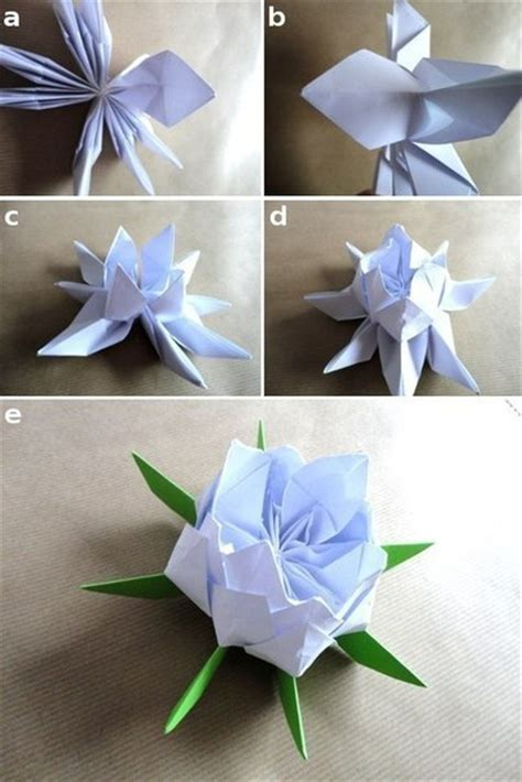 How To Make Lotus Flower Origami - origami lotus flower