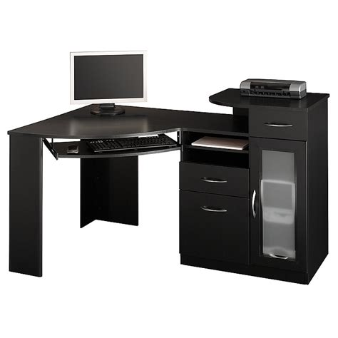 Corner Computer Desk Black Black Computer Desk Uk Corner Computer Tower Desk Black Review And Photo Ikea Computer Desk