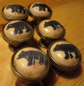painted cabinet knob pulls black bears reserved for