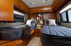King Size Bed Travel Trailer Beds In The Rear Of The U24tb Can Also Be Closed In