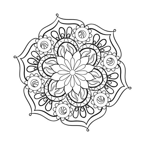color by numbers coloring book of mandalas a mandalas and designs color by number coloring book for adults for stress relief and relaxation color by number coloring books volume 25 books free printable mandala coloring pages image number 23