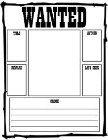 wanted poster template free printable polka dots pencils a story six freebies