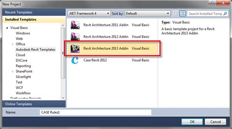 revit template free bim development revit 2013 visual studio 2010 template