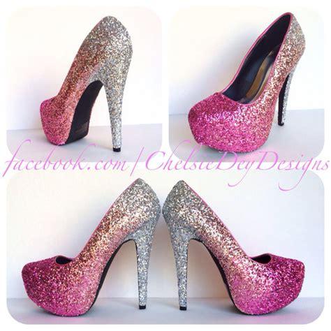 glitter pink high heels blush glitter high heels ombre platform pumps pink
