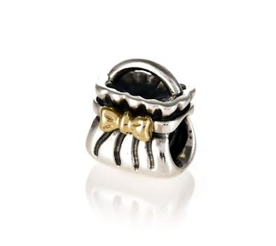 Pandora Silver & 14ct Gold Bow Purse Charm 790474   John