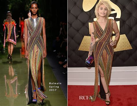 Catwalk To Carpet Grammy Awards by Jackson In Balmain 2017 Grammy Awards Carpet