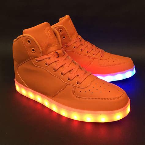 light up game shoes game changer high orange flashgear