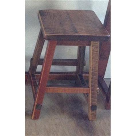 Reclaimed Wood Counter Height Stools by Reclaimed Barn Wood Square Top Bar Stool