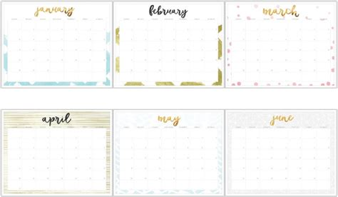 Calendario 2017 Para Imprimir Por Meses 10 Calendarios 2017 Para Imprimir Gratis Y Organizar