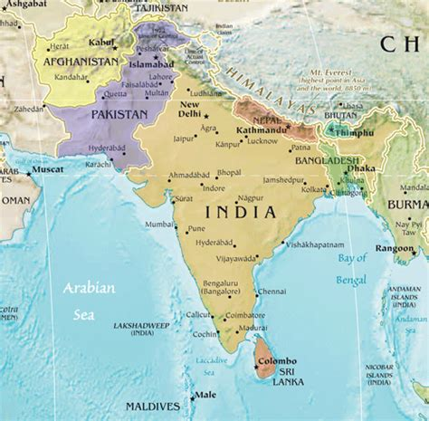 map of southern asia southern asia