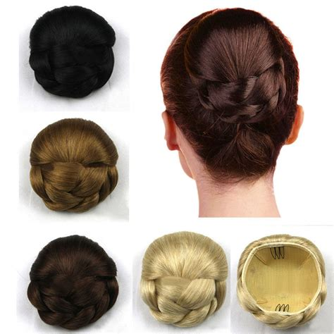 Wedding Clip In Hairpieces by Hair Chignon Synthetic Hair Bun Hairpiece Clip In Hair