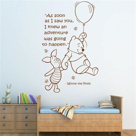 Wall Quote Winnie The Pooh Wall Sticker Art Girls Boys Winnie The Pooh Nursery Wall Decals