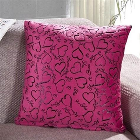 cute bed pillows cute heart cushion case square soft throw pillow cover