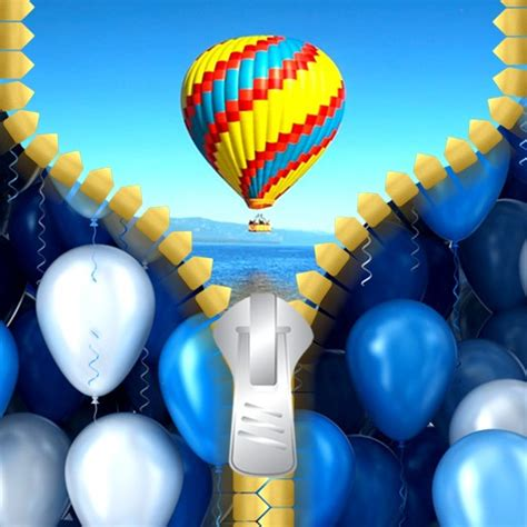 balloon pattern lock screen balloon zipper lock screen