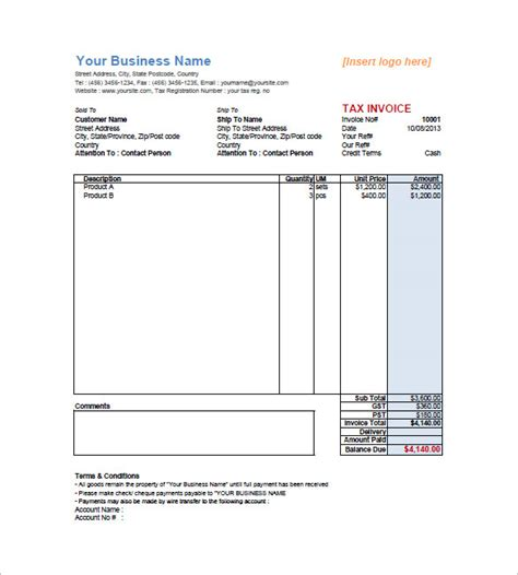 retail invoice template free to do list