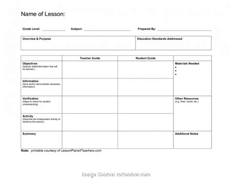 teacher s weekly lesson plans office templates