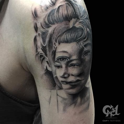 portrait tattoo artist distorted portrait by capone tattoonow