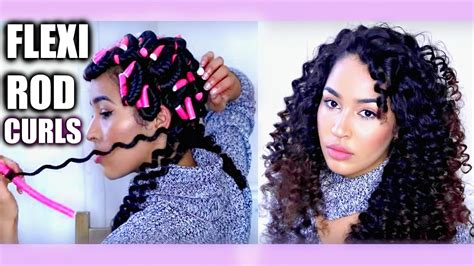 how to roll hair with jumbo flexi rods heatless curly hair tutorial flexi rods bendy rollers
