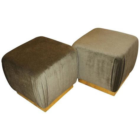 ottomans and poufs two poufs or ottomans in the style of karl springer and