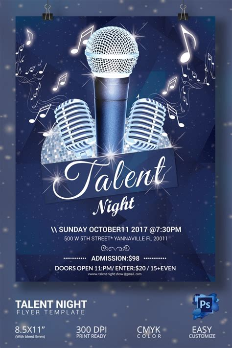 16 amazing talent show flyer templates psd free