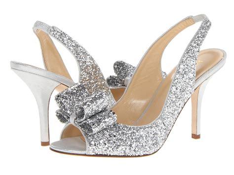 silver shoes without heel kate spade new york charm heel at luxury zappos com