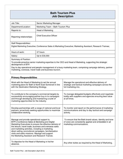 job description template word unique 9 recruiter job description