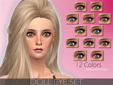 Top 10 Home Decor Websites by The Sims Resource Doll Eye Set By Senpai Simmer Sims 4