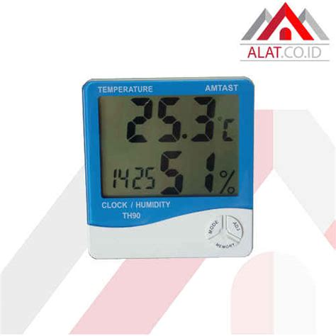 Thermometer Dan Hygrometer thermometer hygro and clock amtast th90 distributor alat